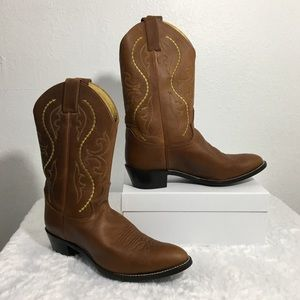 Justin Wmn's Brown Leather Saltillo Western Boots